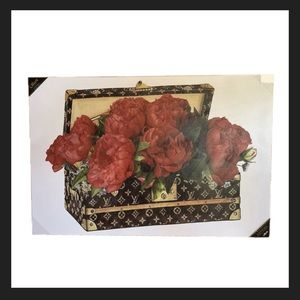 Oliver by Oliver Gal Louis Vuitton Trunk Peony